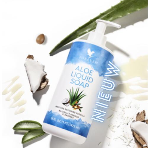 Reinig en hydrateer met Forever's Aloe Liquid Soap. Onze rijke formule voedt en laat je huid fris en vernieuwd aanvoelen. Aloe Liquid Soap gebruikt de kracht van aloë met andere krachtige ingrediënten om het hele gezin een veelzijdige reinigingservaring voor het hele lichaam te bieden.